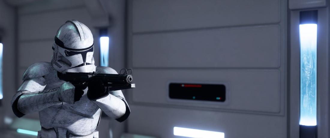 SW Clone Trooper Kamino Hallway
