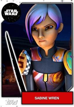 Star Wars character Sabine Wren Darksaber