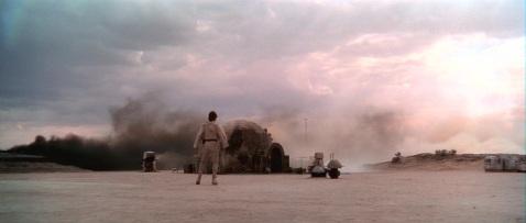 Star Wars Burning Homestead