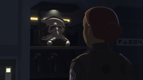 Star Wars Resistance into the unknown Tam TIE helmet
