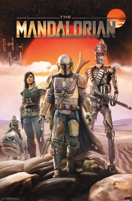 star wars the mandalorian september poster