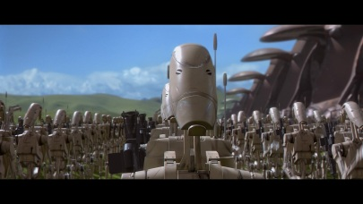 star wars the phantom menace battle droid unfolded