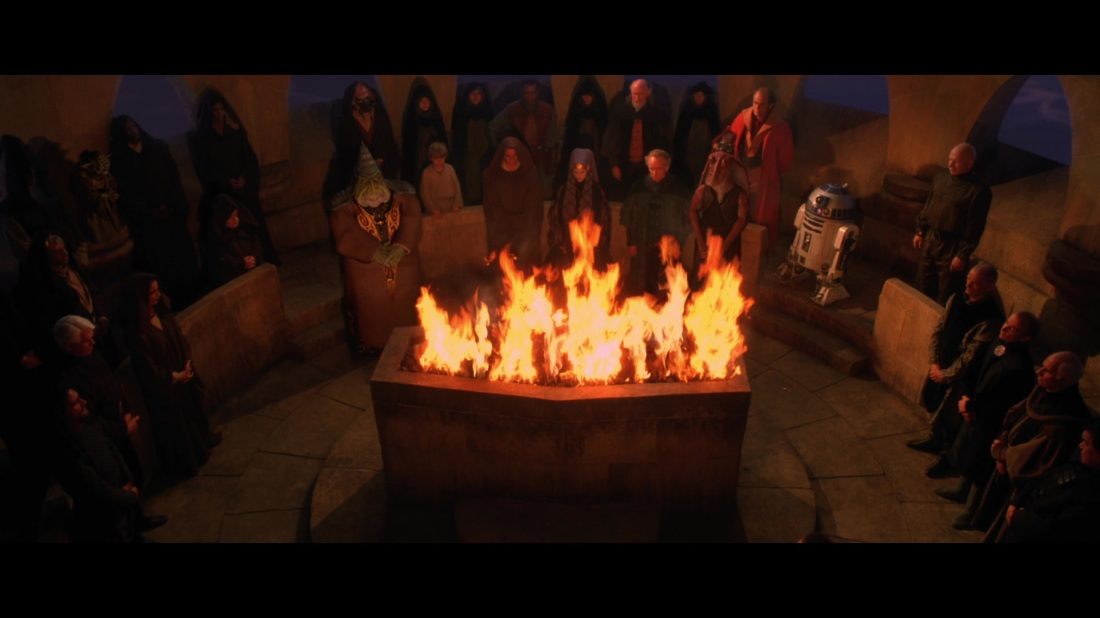 star wars the phantom menace funeral