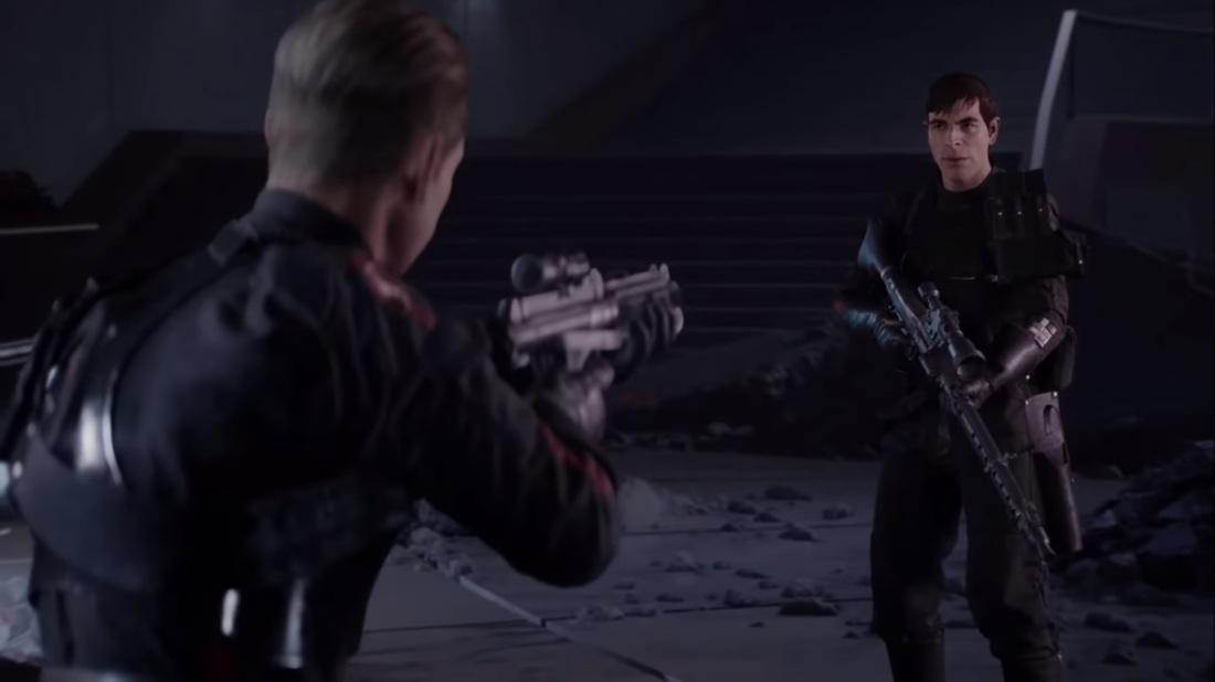 Star Wars Battlefront II Hask Del standoff