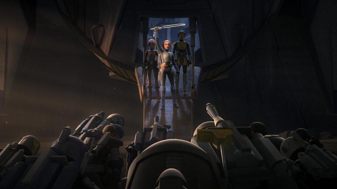 Star Wars Rebels Darksaber Mandalorians Sabine Wren Bo-Katan Kryze