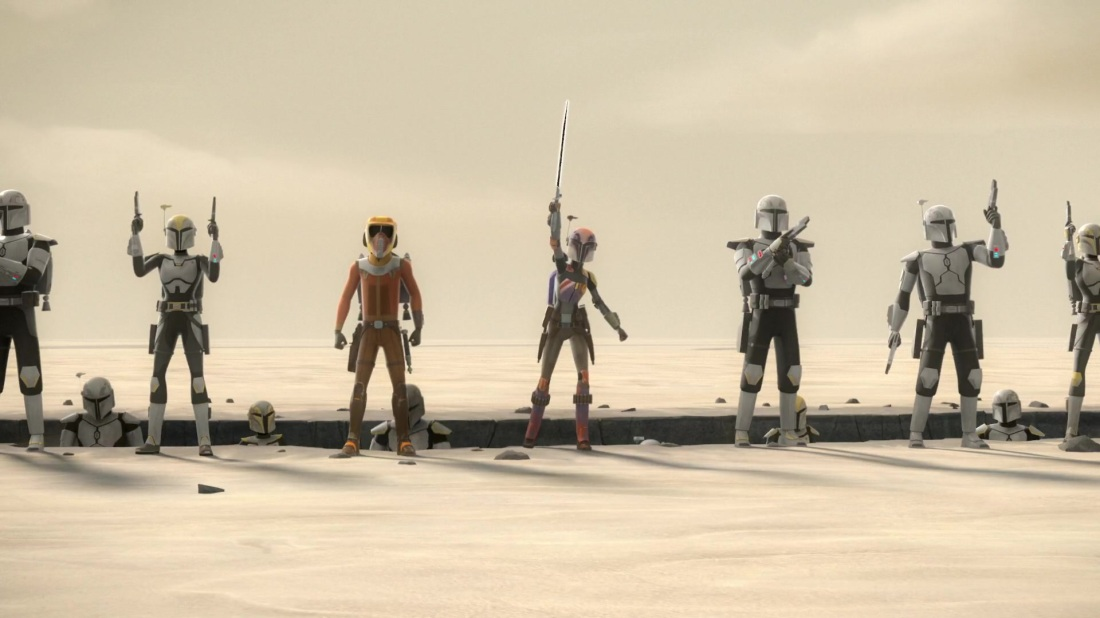 Star Wars Rebels Darksaber Sabine Wren Ezra Bridger Mandalorians