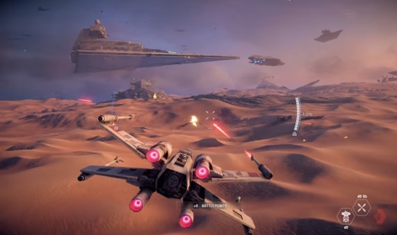 star wars battlefront II campaign the battle of jakku combat