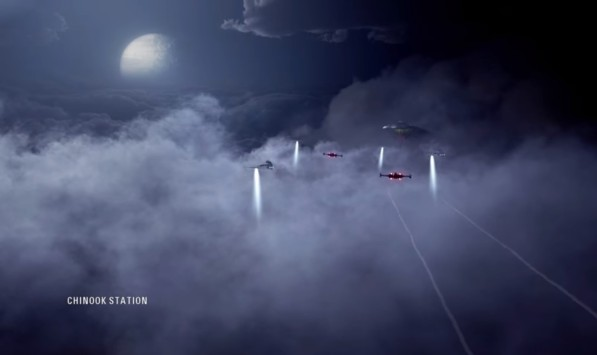star wars battlefront II campaign under covered skies chinook station