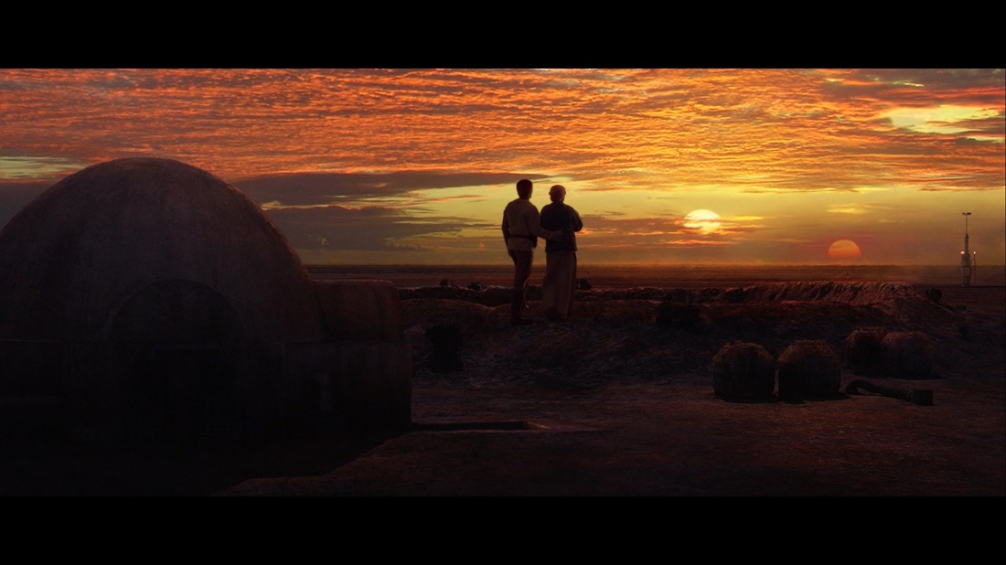 star wars revenge of the sith binary sunset