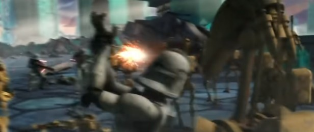 star wars the clone wars clone droid punch