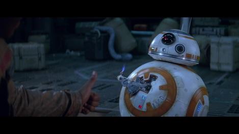 star wars the force awakens finn bb-8 thumbs up