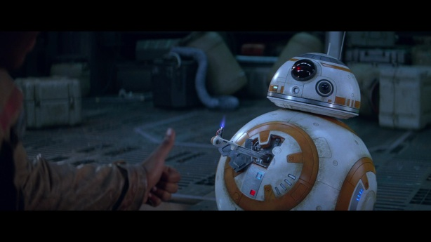 star wars the force awakens finn bb-8 thumbs up