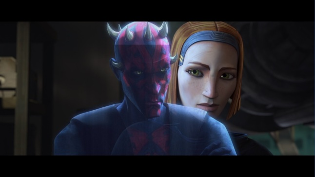 star wars the clone wars together again bo-katan kryze darth maul