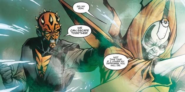 star wars comic Darth Maul Son of Dathomir 4 Maul Mother Talzin