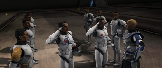 star wars the clone wars s1e5 rookies fives echo cody rex 501st