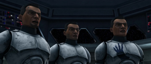 star wars the clone wars s1e5 rookies fives echo hevy
