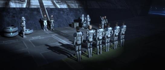 star wars the clone wars s4e10 carnage of krell fives jesse rex dogma tup kix 501st firing squad