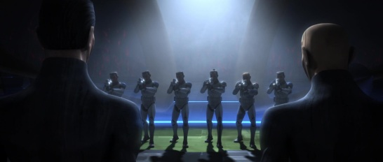 star wars the clone wars s4e10 carnage of krell fives jesse tup kix 501st firing squad
