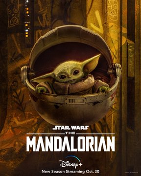 feat series the mandalorian season 2 poster the child baby yoda