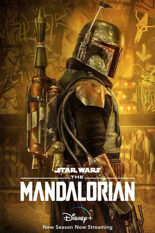 star wars series the mandalorian season 2 poster boba fett