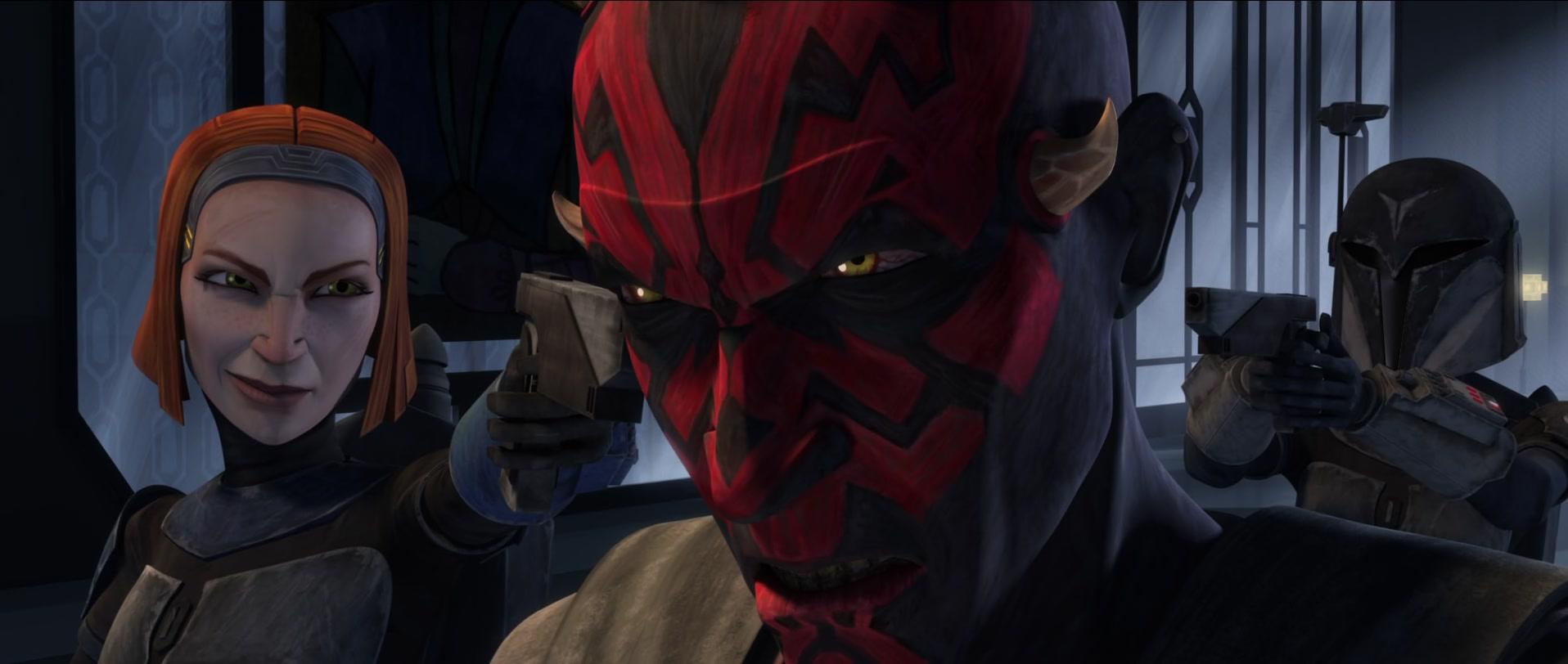 star wars series the clone wars s5e15 shades of reason bo-katan kryze maul