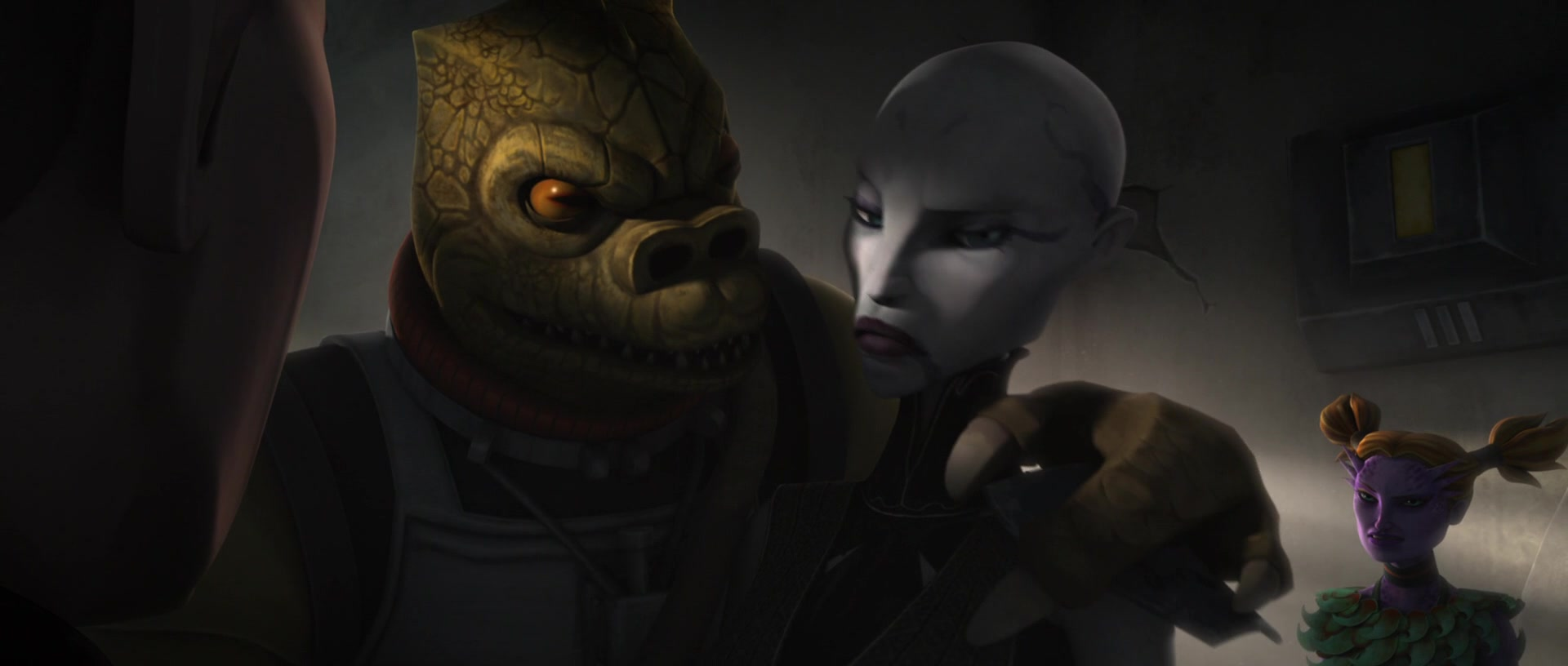 star wars series the clone wars s4e20 bounty bossk asajj ventress latts razzi