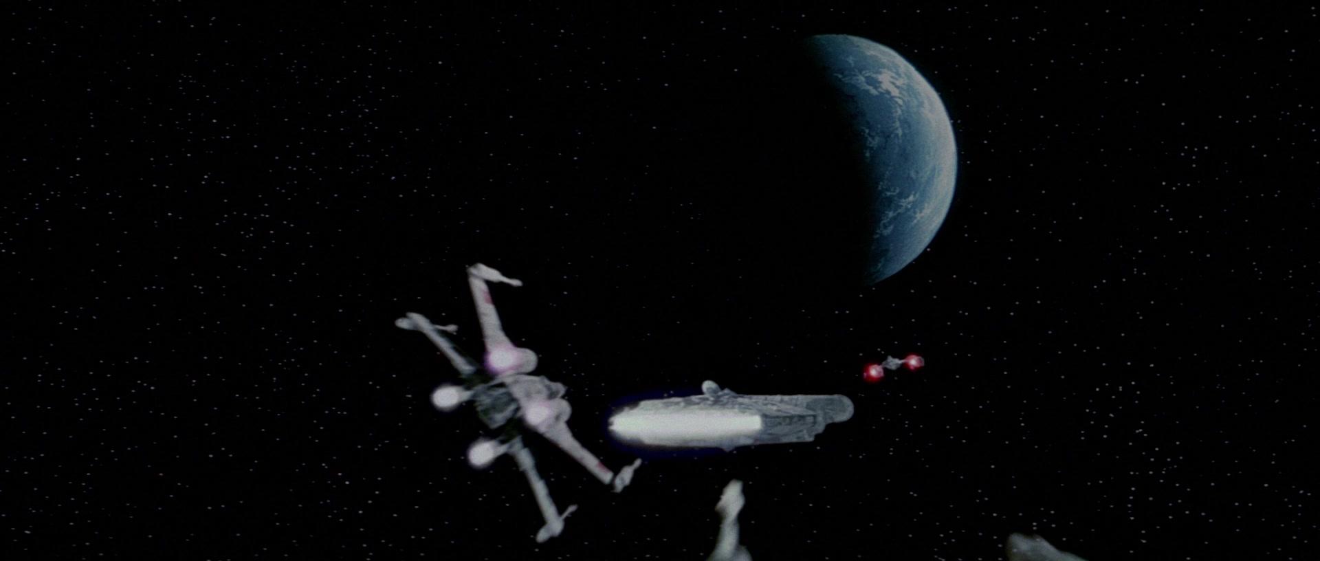 star wars a new hope batle of yavin millennium falcn evaan verlaine wedge antilles