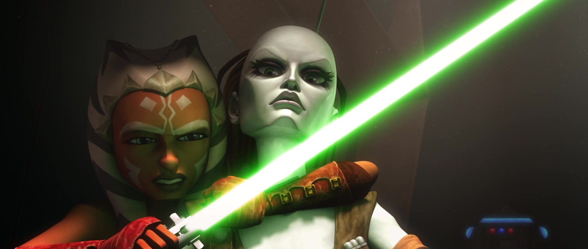 star wars series the clone wars s2e22 lethal trackdown ahsoka tano aurra sing