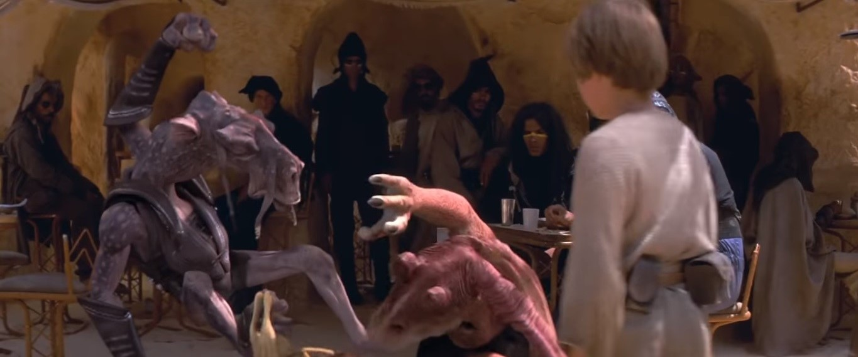 star wars the phantom menace sebulba anakin skywalker jar jar binks quinlan vos