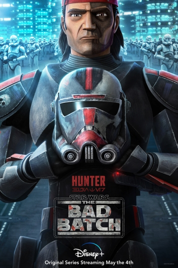 star wars series the bad batch poster hunter