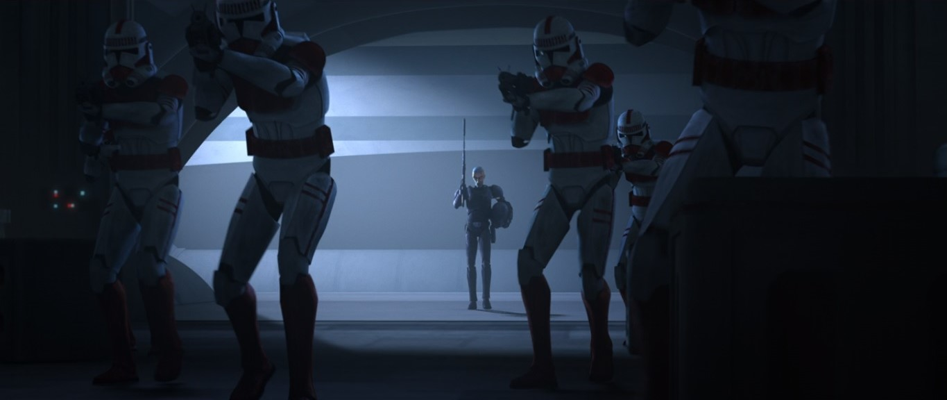 star wars series the bad batch s1e1 crosshair shock troopers