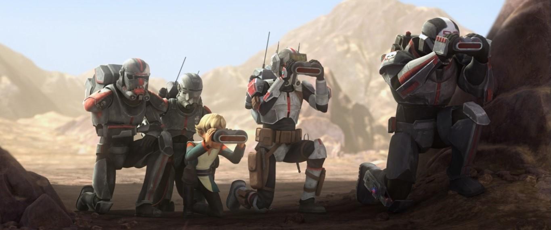 star wars series the bad batch s1e5 rampage omega tech echo wrecker hunter