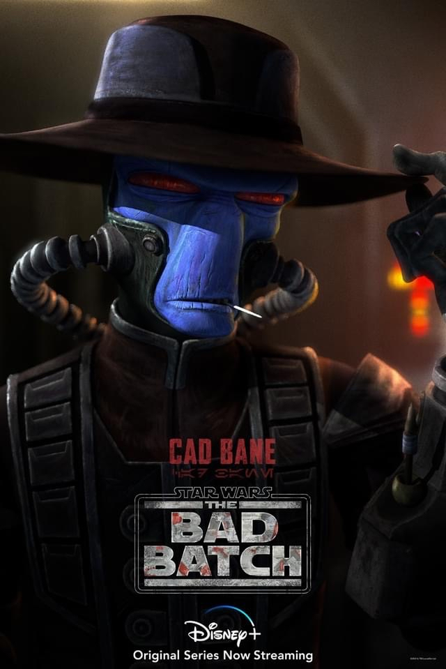 star wars series the bad batch poster cad bane