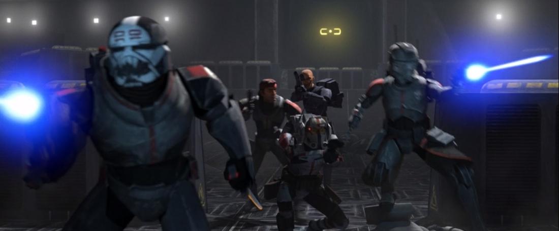 star wars series the bad batch s1e15 Finale Part 1 hunter wrecker echo tech crosshair