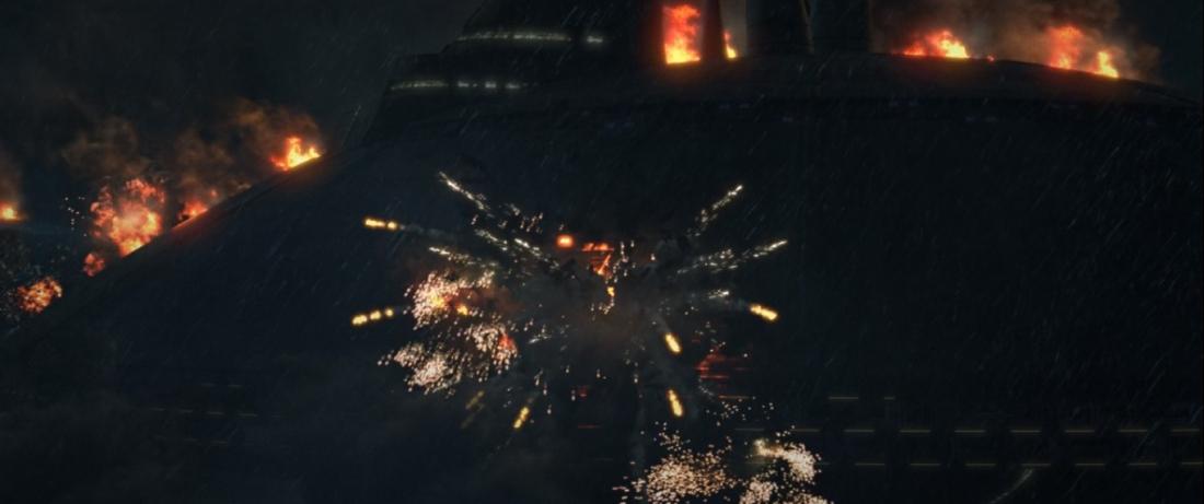 star wars series the bad batch s1e15 Finale Part 1 tipoca city destruction