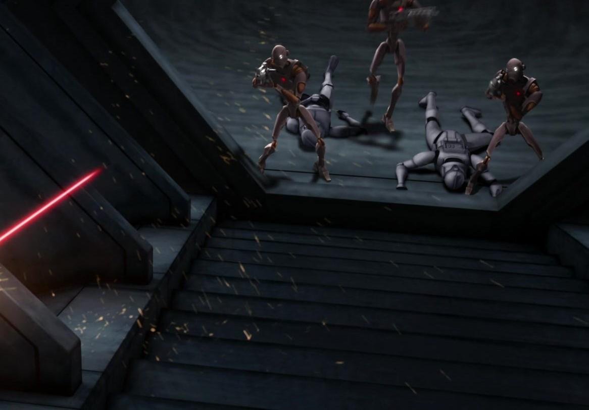 star wars series the clone wars s1e5 rookies nub droidbait